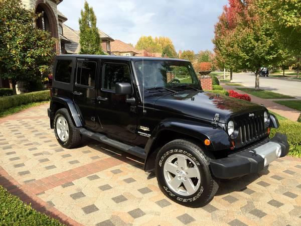 2011 jeep wrangler unlimited sahara for sale in kansas. Black Bedroom Furniture Sets. Home Design Ideas