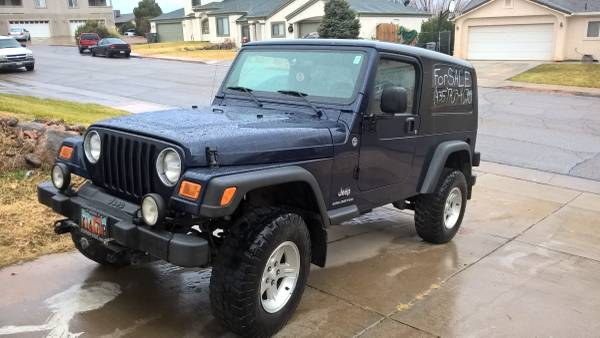 2006 jeep wrangler unlimited for sale in st george utah. Black Bedroom Furniture Sets. Home Design Ideas