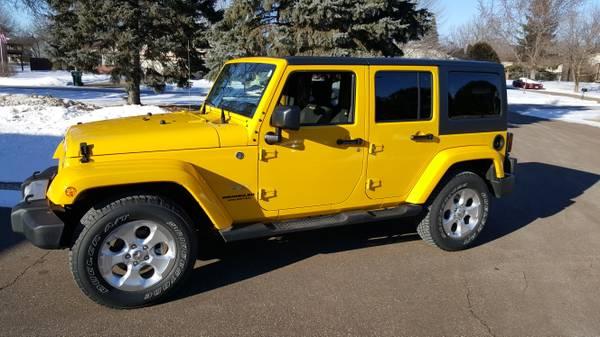 2015 jeep wrangler unlimited sahara for sale in blaine minnesota. Black Bedroom Furniture Sets. Home Design Ideas