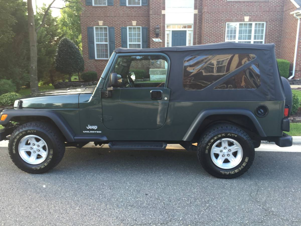 2004 jeep wrangler unlimited convertible for sale in bristow virginia. Black Bedroom Furniture Sets. Home Design Ideas